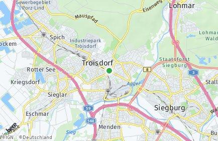 Stadtplan Troisdorf OT Troisdorf-Mitte