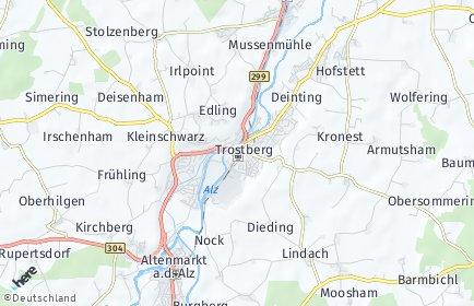 Stadtplan Trostberg