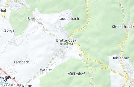 Stadtplan Brotterode-Trusetal