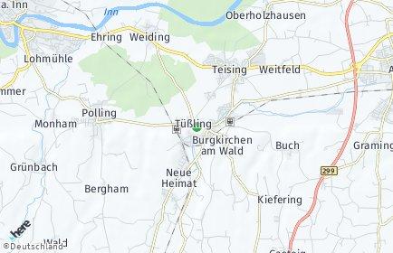 Stadtplan Tüßling