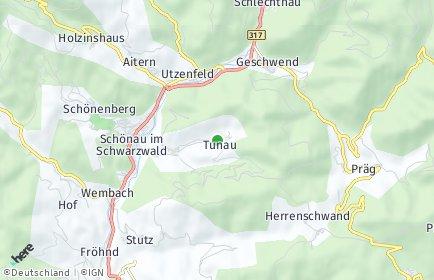 Stadtplan Tunau