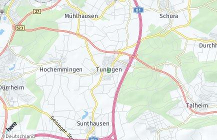 Stadtplan Tuningen