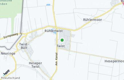 Stadtplan Twist (Emsland)