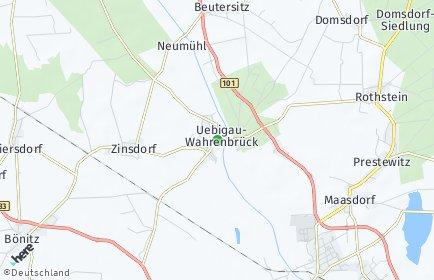 Stadtplan Uebigau-Wahrenbrück