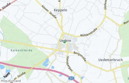 Stadtplan Uedem