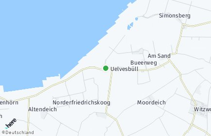 Stadtplan Uelvesbüll