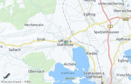 Stadtplan Uffing am Staffelsee OT Hechenrain, Staffelsee