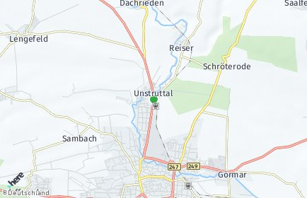 Stadtplan Unstruttal