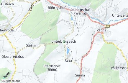 Stadtplan Unterbreizbach