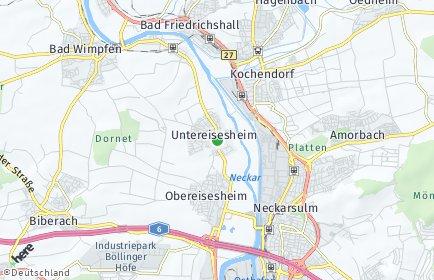 Stadtplan Untereisesheim