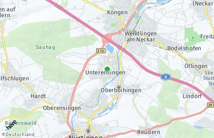 Stadtplan Unterensingen