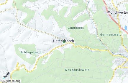Stadtplan Unterkirnach