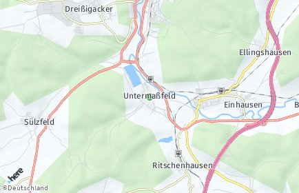 Stadtplan Untermaßfeld