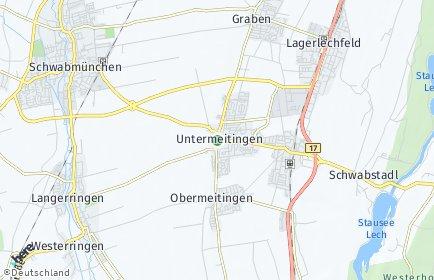 Stadtplan Untermeitingen