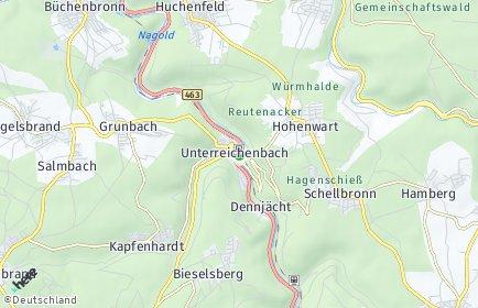 Stadtplan Unterreichenbach