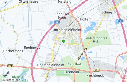 Stadtplan Unterschleißheim