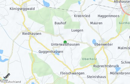 Stadtplan Unterwaldhausen