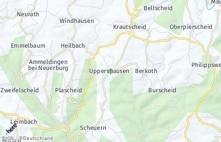 Stadtplan Uppershausen