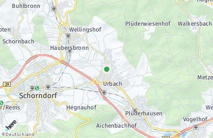 Stadtplan Urbach (Baden-Württemberg) OT Unterurbach