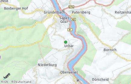 Stadtplan Urbar-Hunsrück