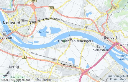 Stadtplan Urmitz