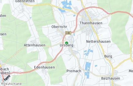 Stadtplan Ursberg