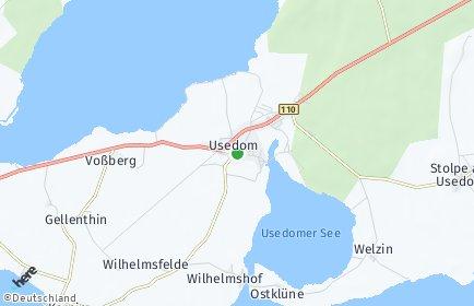 Stadtplan Usedom
