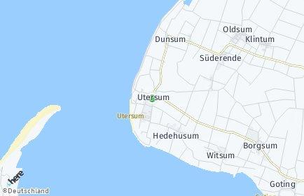 Stadtplan Utersum