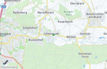 Stadtplan Uttenreuth