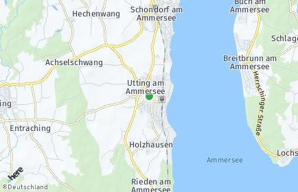 Stadtplan Utting am Ammersee
