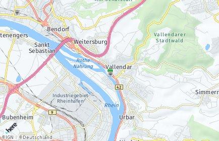 Stadtplan Vallendar
