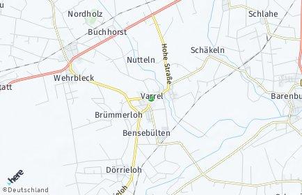 Stadtplan Varrel