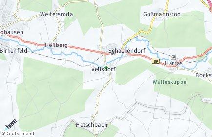 Stadtplan Veilsdorf