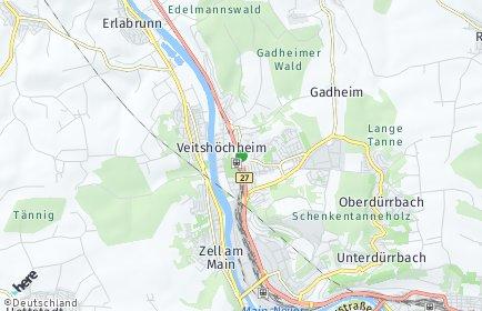 Stadtplan Veitshöchheim