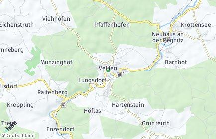 Stadtplan Velden (Pegnitz)