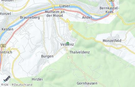 Stadtplan Veldenz