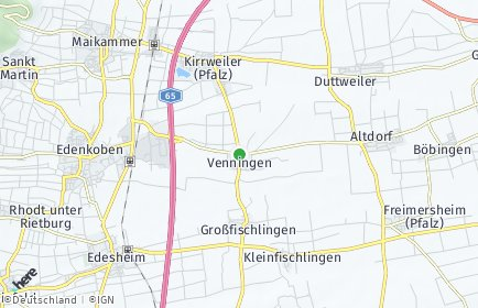 Stadtplan Venningen