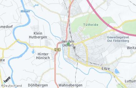Stadtplan Verden (Aller)