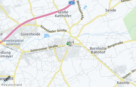 Stadtplan Verl