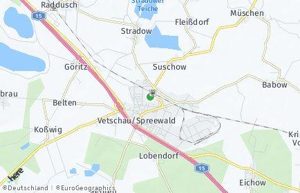 Stadtplan Vetschau/Spreewald