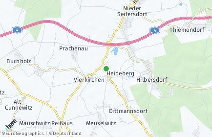 Stadtplan Vierkirchen (Oberlausitz)