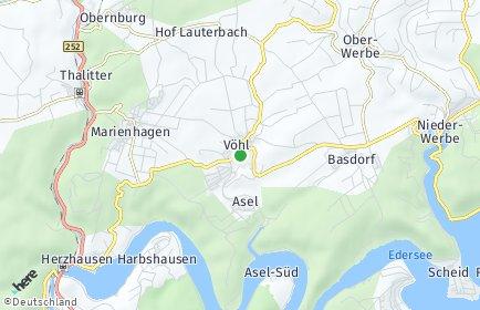 Stadtplan Vöhl