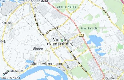 Stadtplan Voerde