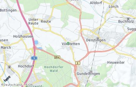 Stadtplan Vörstetten