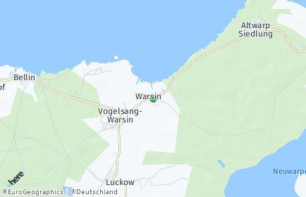 Stadtplan Vogelsang-Warsin