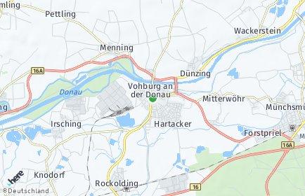 Stadtplan Vohburg an der Donau
