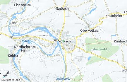 Stadtplan Volkach
