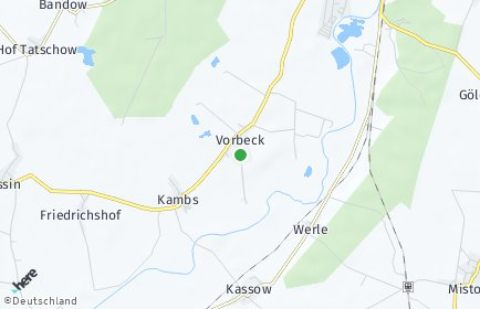 Stadtplan Vorbeck