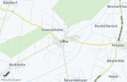 Stadtplan Vrees
