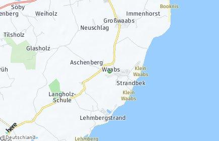 Stadtplan Waabs
